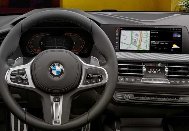Interior view of the BMW 2 Series Gran Coupe showcasing app compatibility