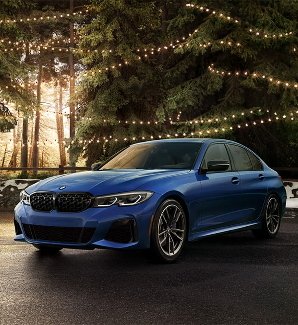 2021 BMW 3-Series in a forest