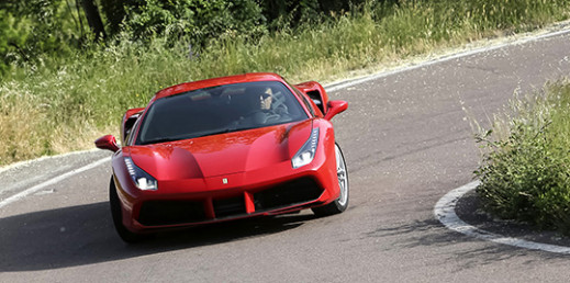 Ferrari 488 GTB on the road