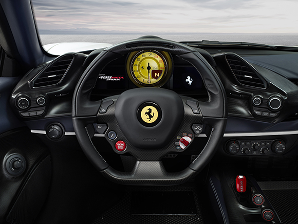 Ferarri 488 Pista Spider steering wheel
