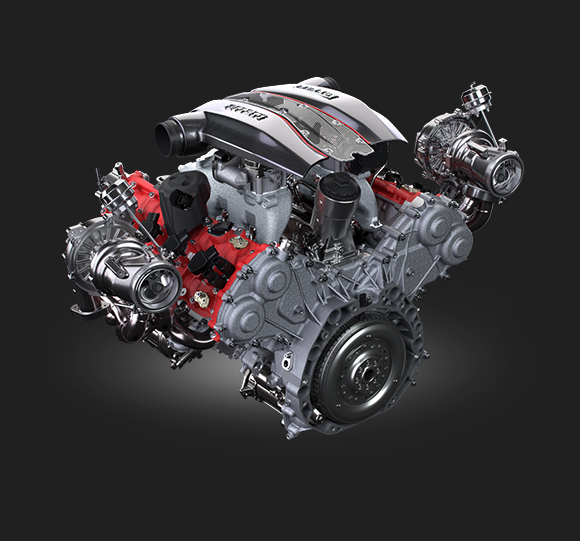 Ferarri 488 Pista Spider engine