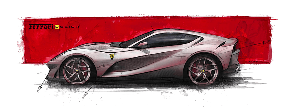 Ferrari 812 Superfast Drawing