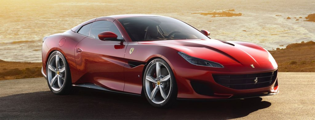 Ferrari portofino by water