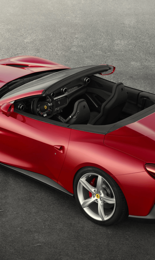 Ferrari Portofino top down