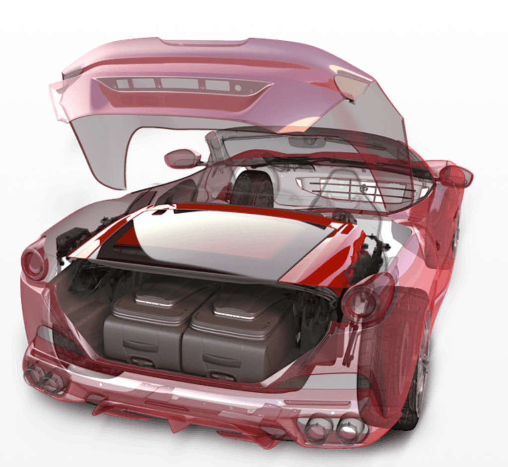 Ferrari Portofino trunk space