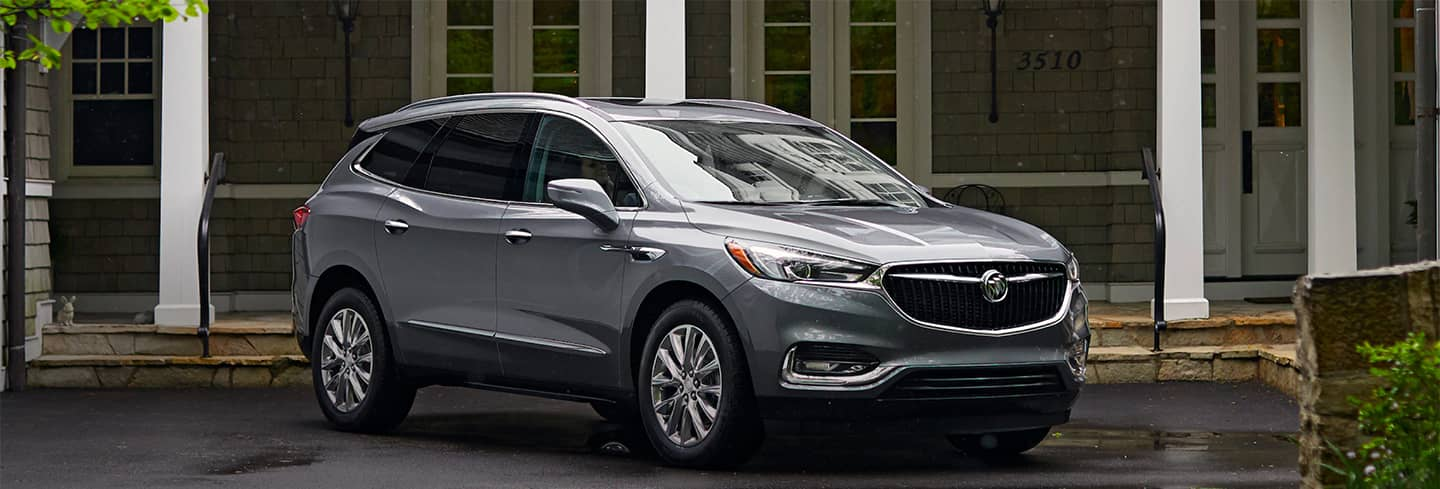 2019 Buick Enclave Angled View Parked in Front of a House