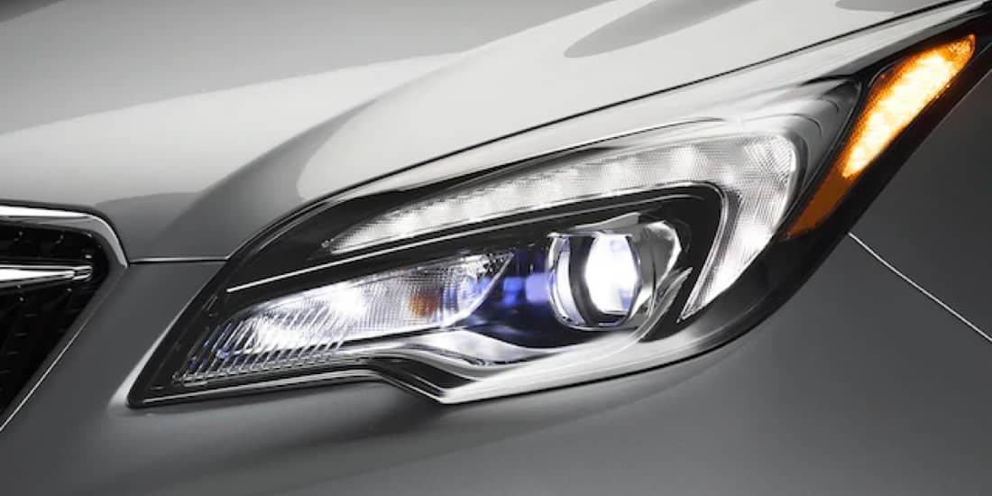Buick Envision's left headlight.