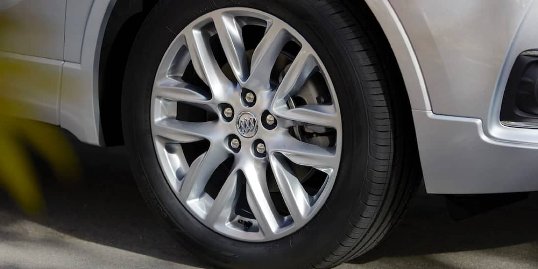 Buick Envision's wheel well