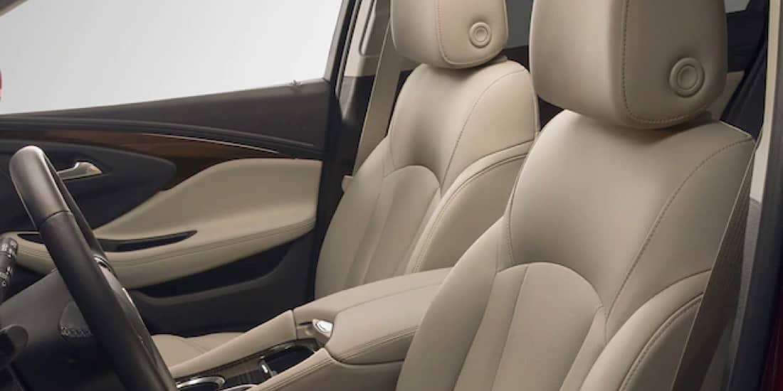 Buick Envision's front leather seats with cooling technology