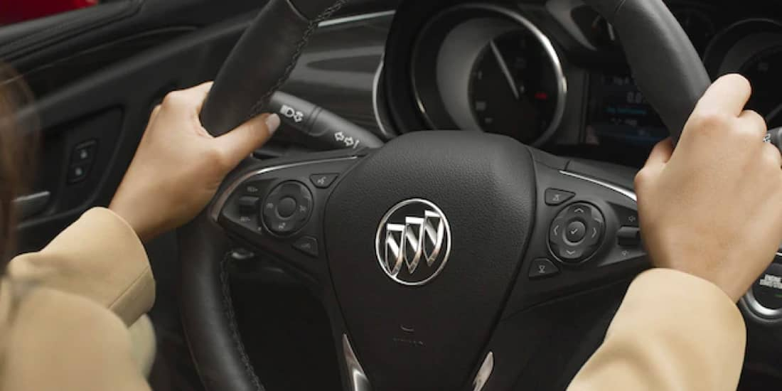 The Buick Envision's heated steering wheel