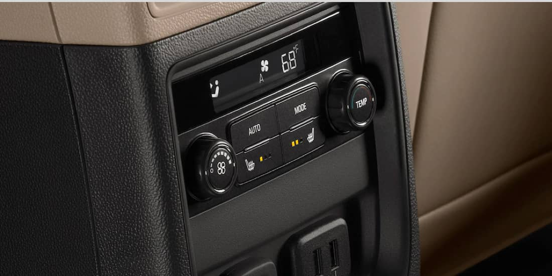 Buick Envision's rear climate controls