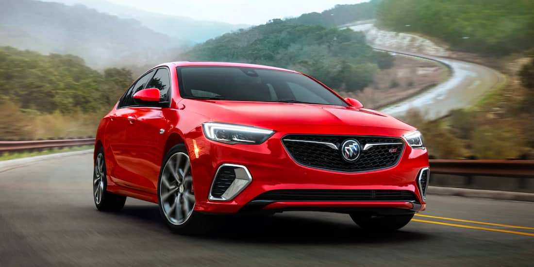 2019 Buick Regal GS on the winding road