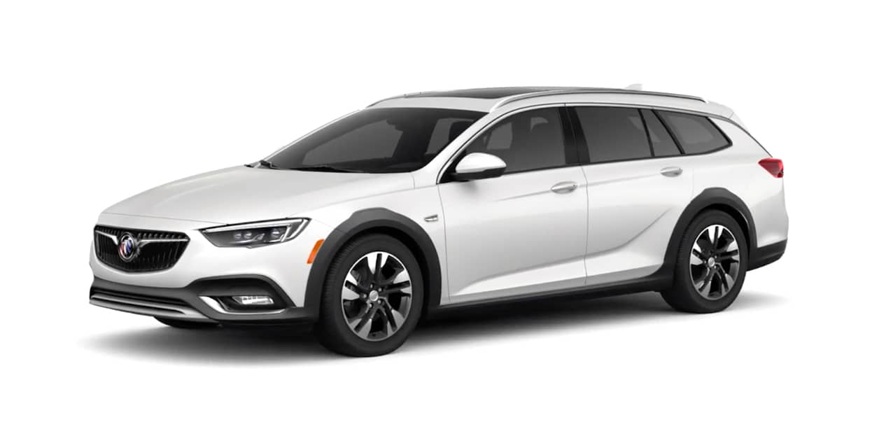 White Frost Tricoat Buick Regal TourX