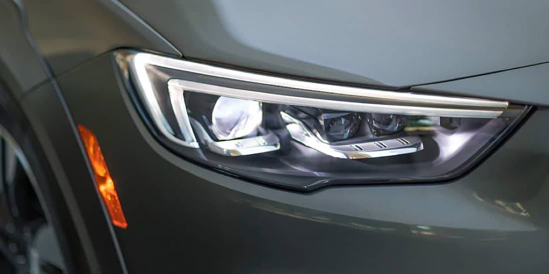 Close Up of a 2019 Buick Regal TourX Headlamp