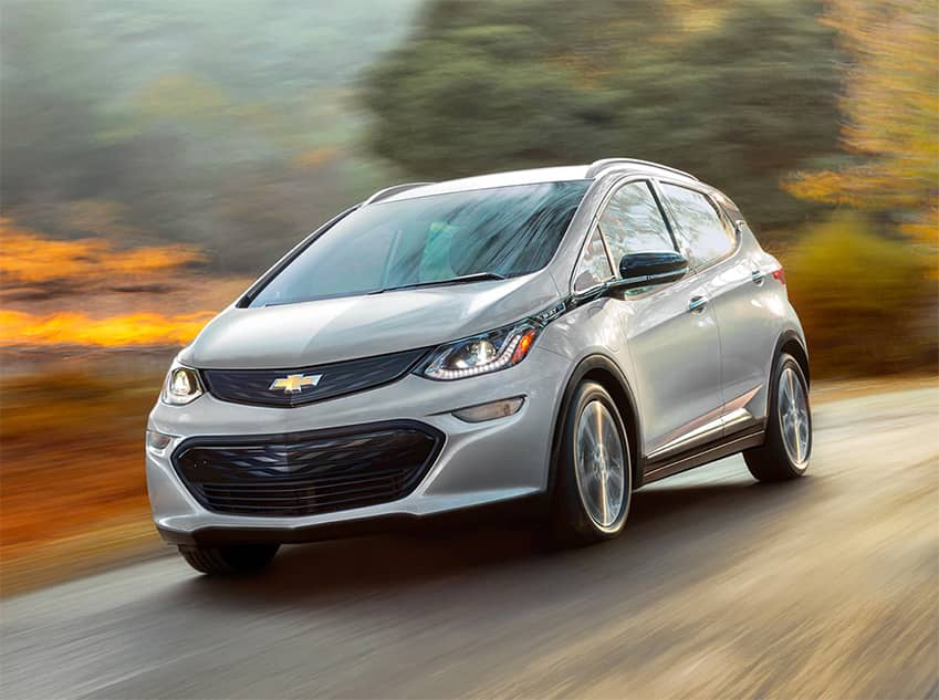 2019 Silver Chevrolet Bolt EV Driving