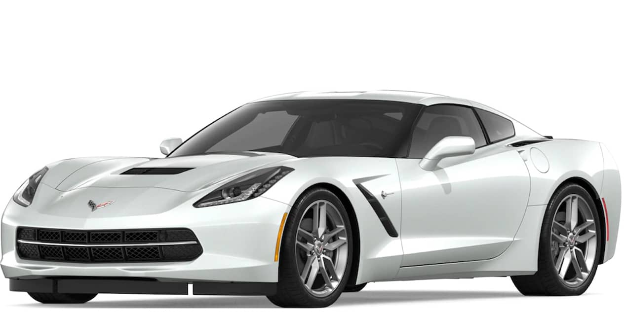 Arctic White Corvette Stingray