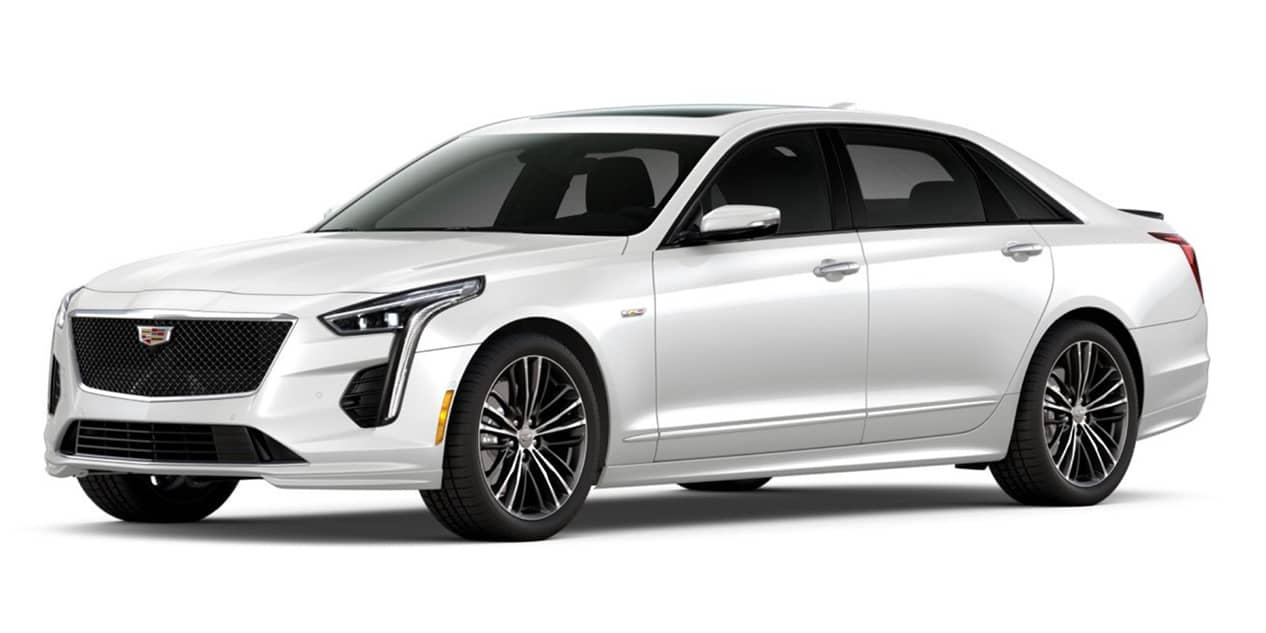 Crystal White Tricoat 2020 Cadillac CT6-V