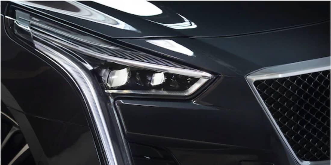 Front left of CT6-V headlight