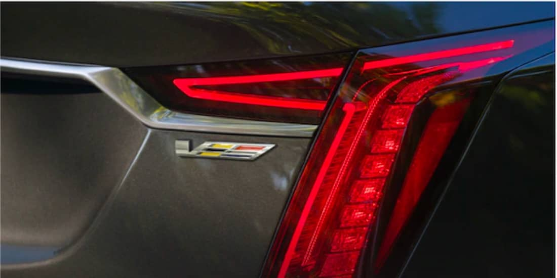 Close Up of a 2020 Cadillac CT6-V Taillamp