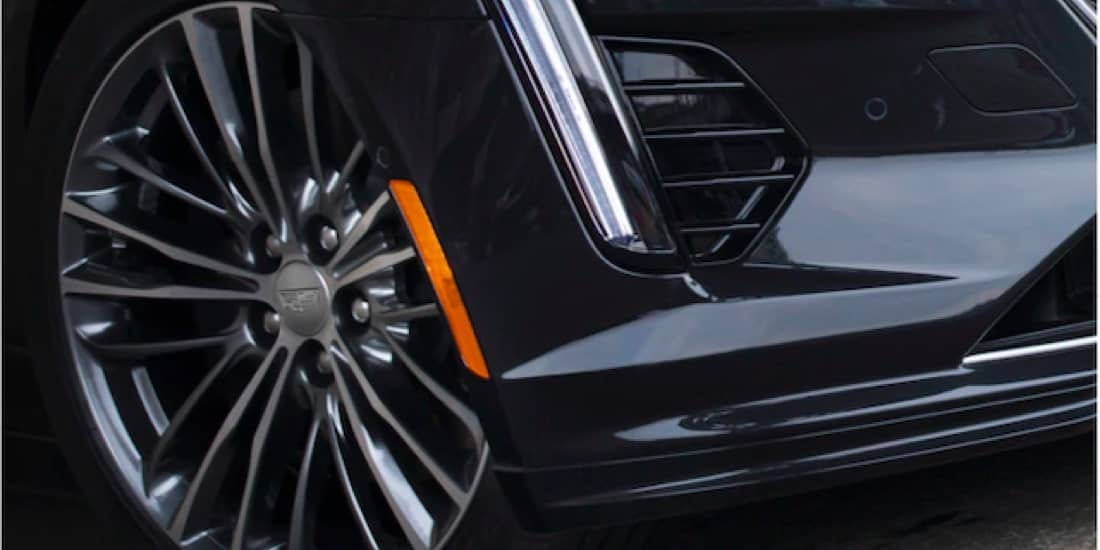 Close Up of the 2020 Cadillac CT6-V Front Wheel