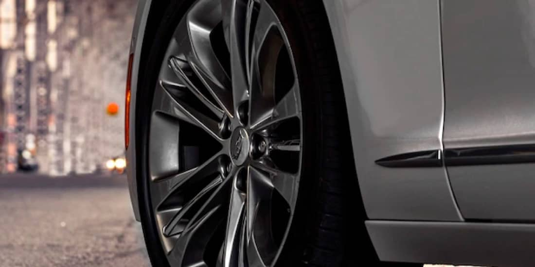 Close Up of a 2020 Cadillac CT6-V Wheel