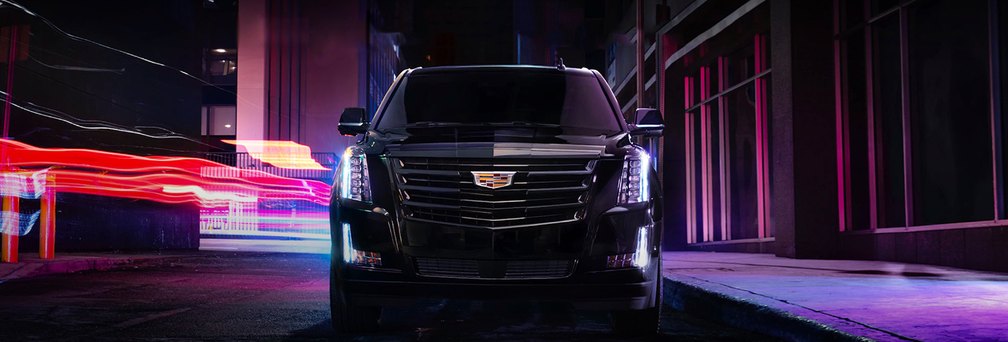Front View of a Black 2020 Cadillac Escalade