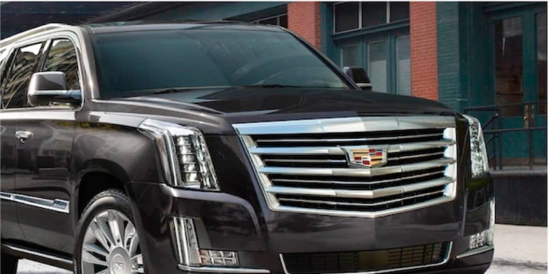 2020 Black Cadillac Escalade Driving