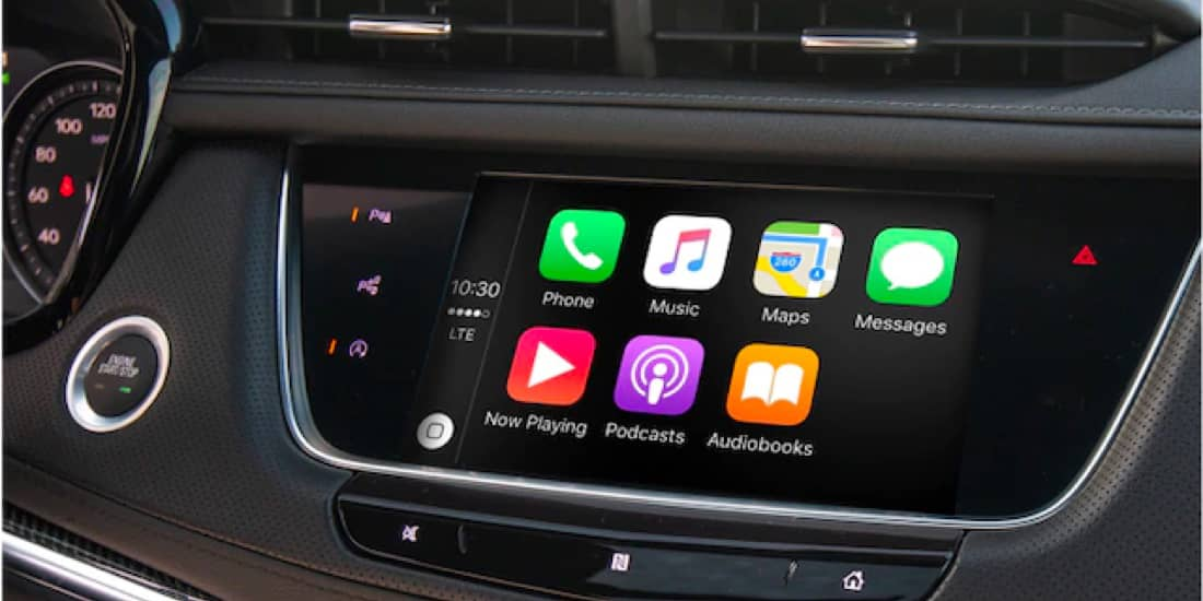 A view of the XT5 infotainment system