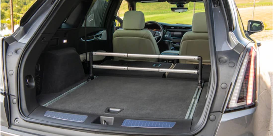 A view of the XT5 rear cargo space