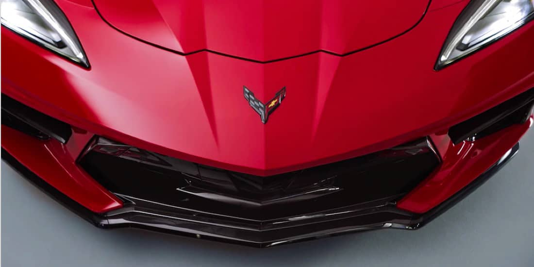 Corvette Z51 Package Nose from Above