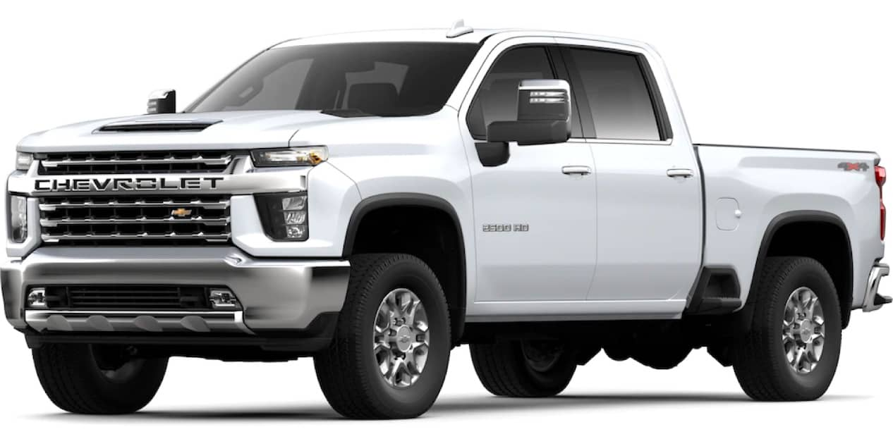 Summit White Silverado HD