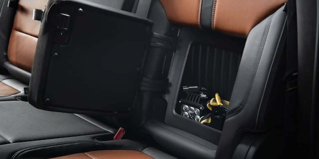Silverado HD with interior seat storage