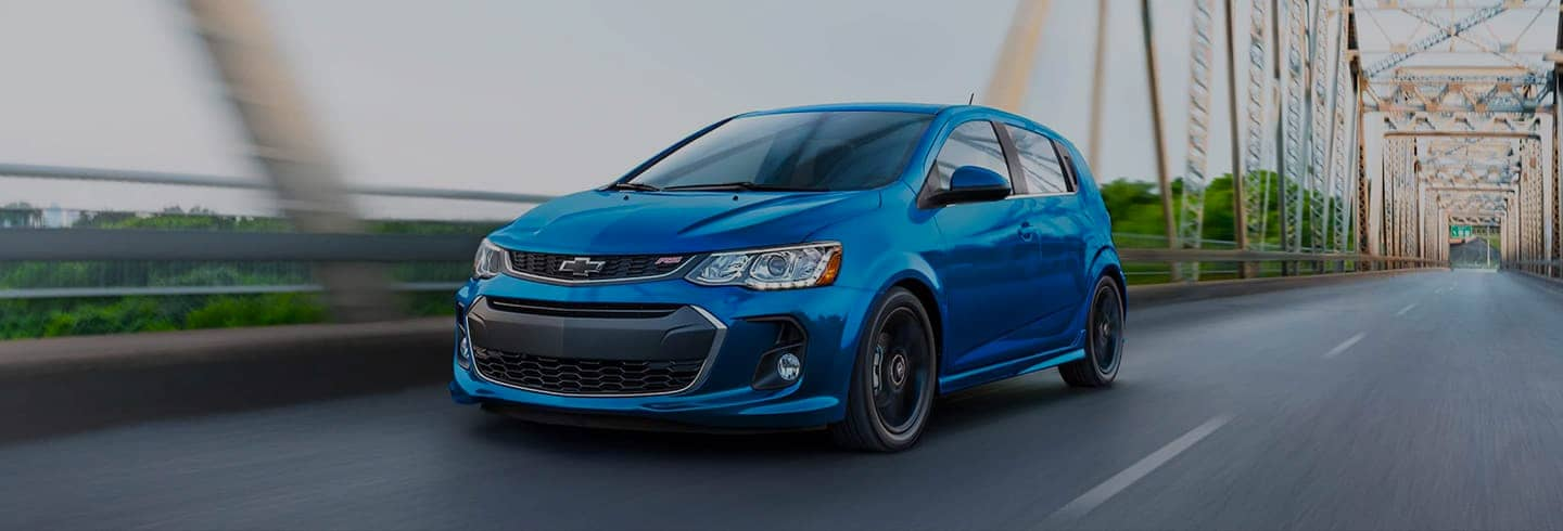2020 Chevrolet Sonic driving down street