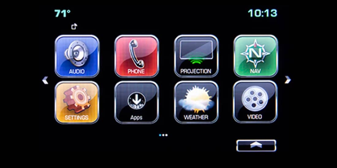 Screen displaying Chevrolet apps