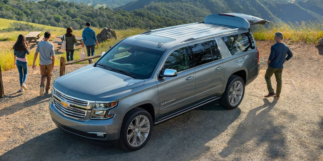 2020 Chevrolet Suburban Angled Exterior View from Above