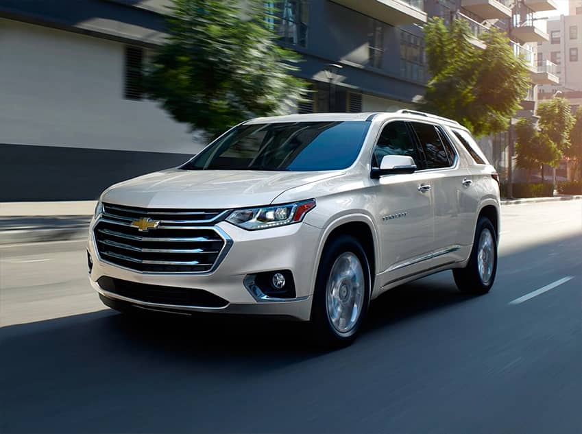 2020 Chevrolet Traverse Driving Down a Street