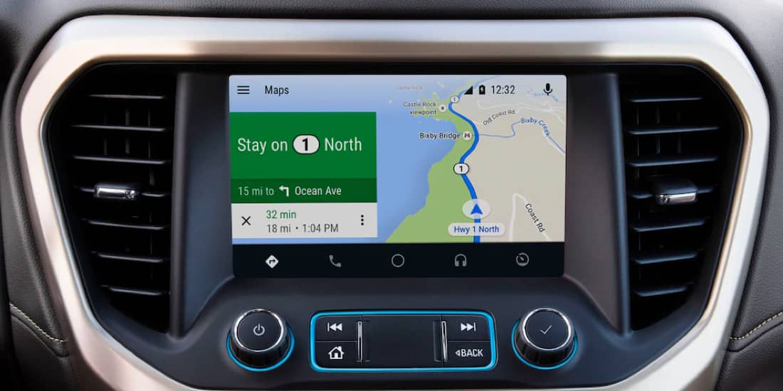 A closeup shot of Acadia's Android Auto™