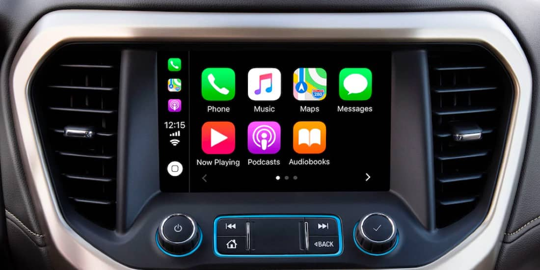 A closeup shot of Acadia's Apple Carplay™