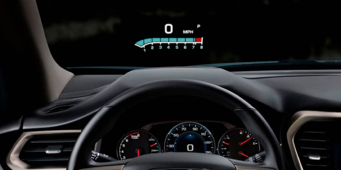 A closeup shot of Acadia 6in heads up display