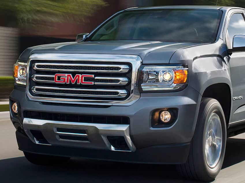 2020 GMC Canyon Front Angled View Driving
