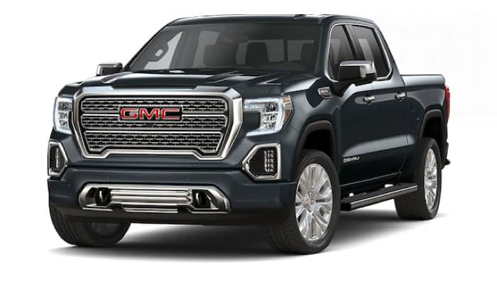 Black Sierra 1500 Denali trim front facing