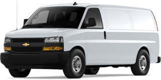 Front angled image of Chevrolet Express Cargo Van