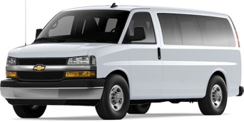 Front angled image of Chevrolet Express Passenger Van