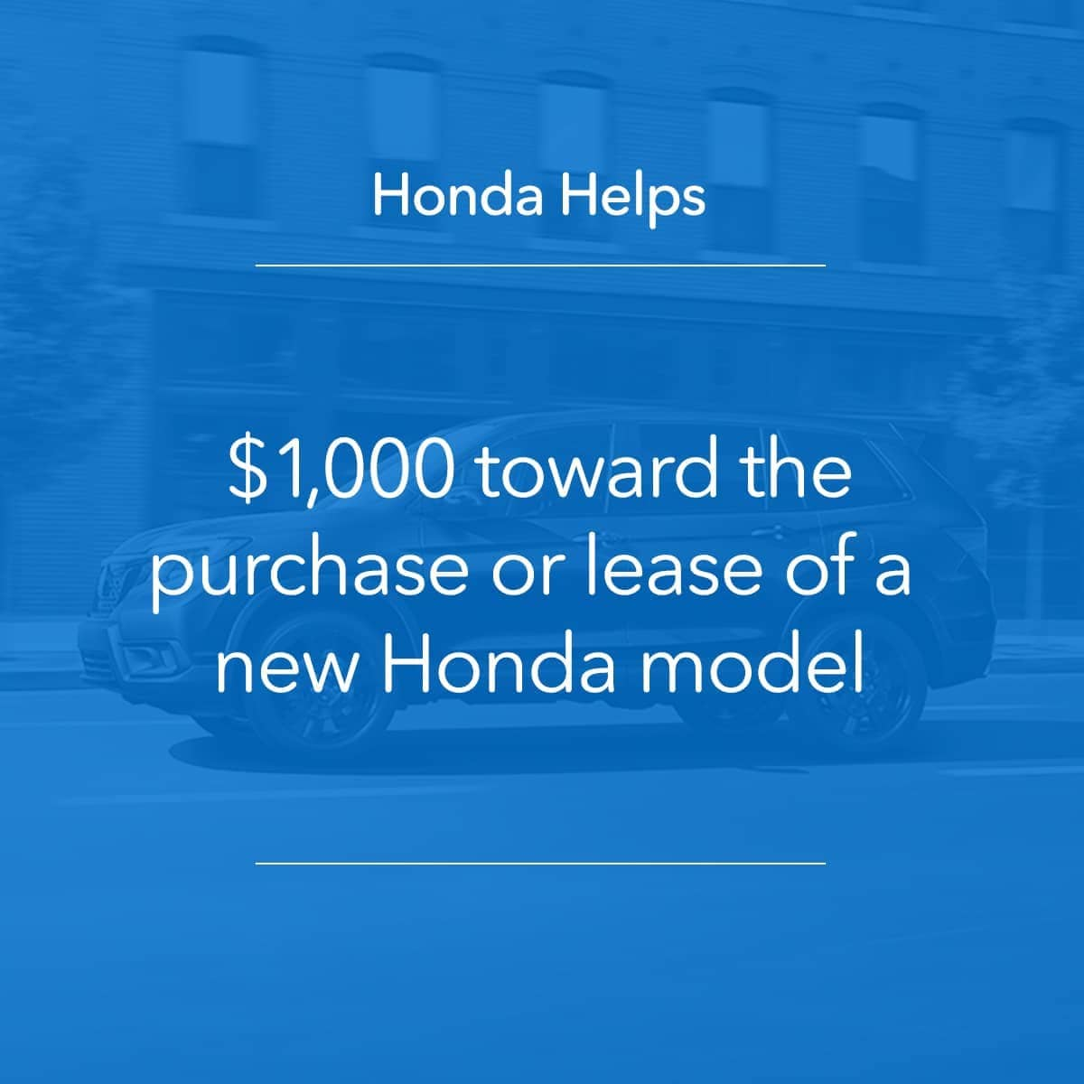 Honda Helps blue info box