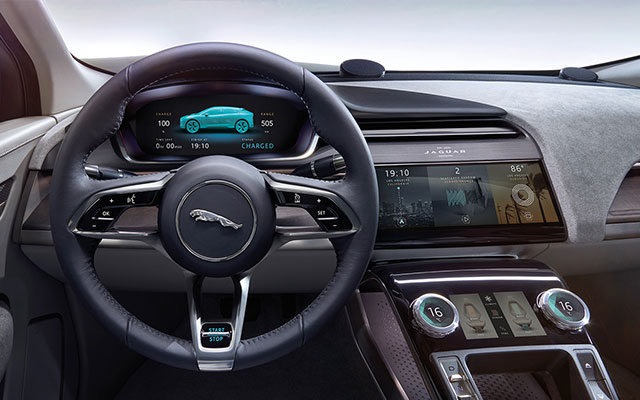 Jaguar concept command deck