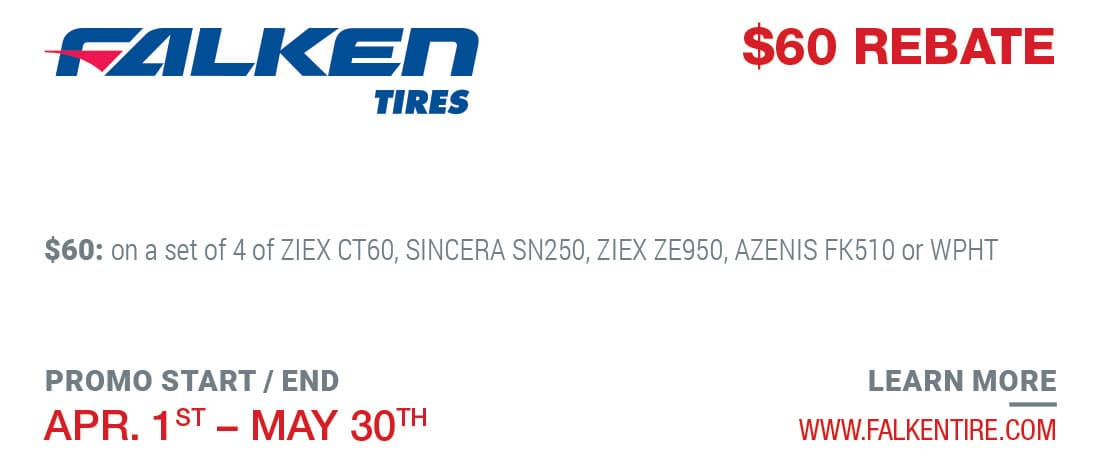 Tire Rebate Falken