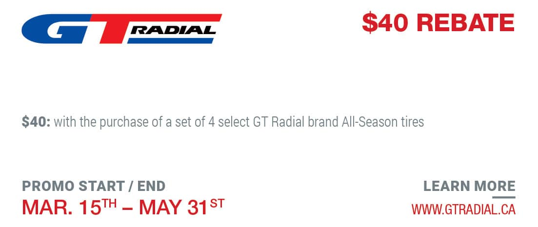 Tire Rebate GT Radical