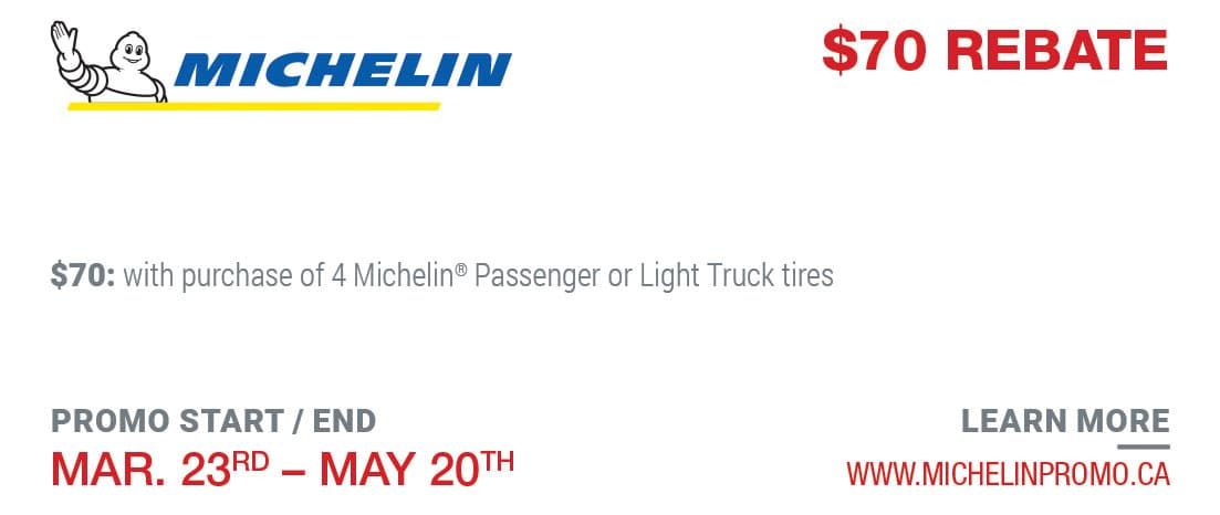 Tire Rebate Michelin