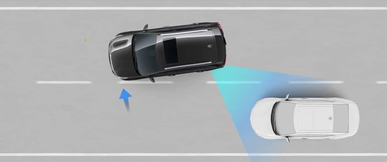 Blind Spot Collision Avoidance Graphic