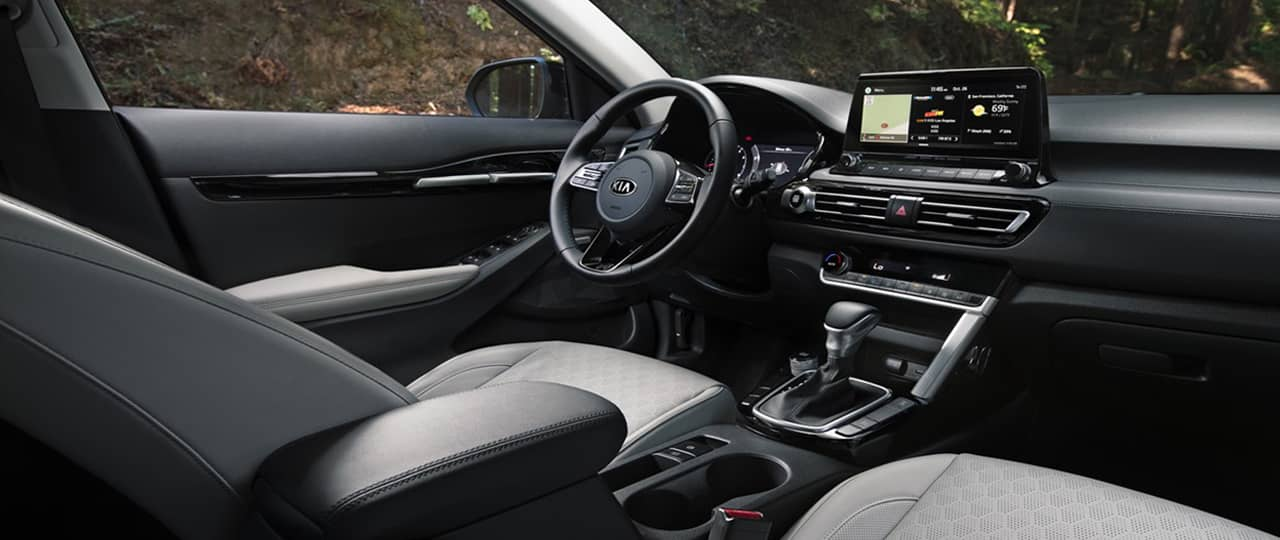 Upscale Interior of a Kia Seltos